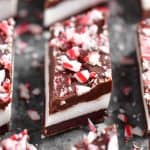 a close-up photo of the cut peppermint bars