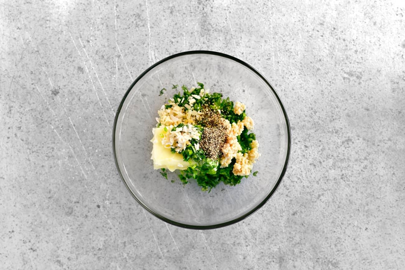 marinade seasoning ingredients in a glass bowl