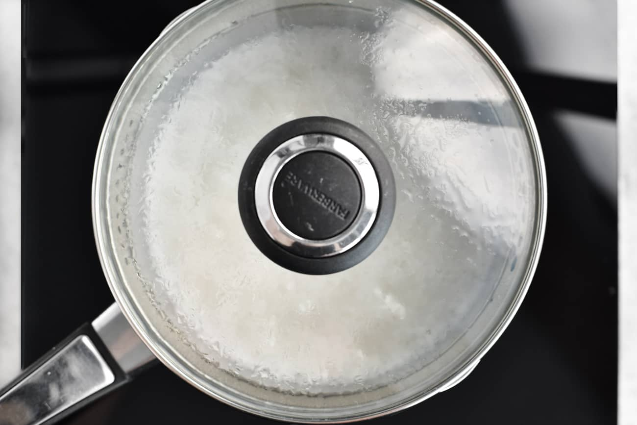cover saucepan and simmer