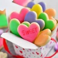 Mini Conversation Heart Cookies