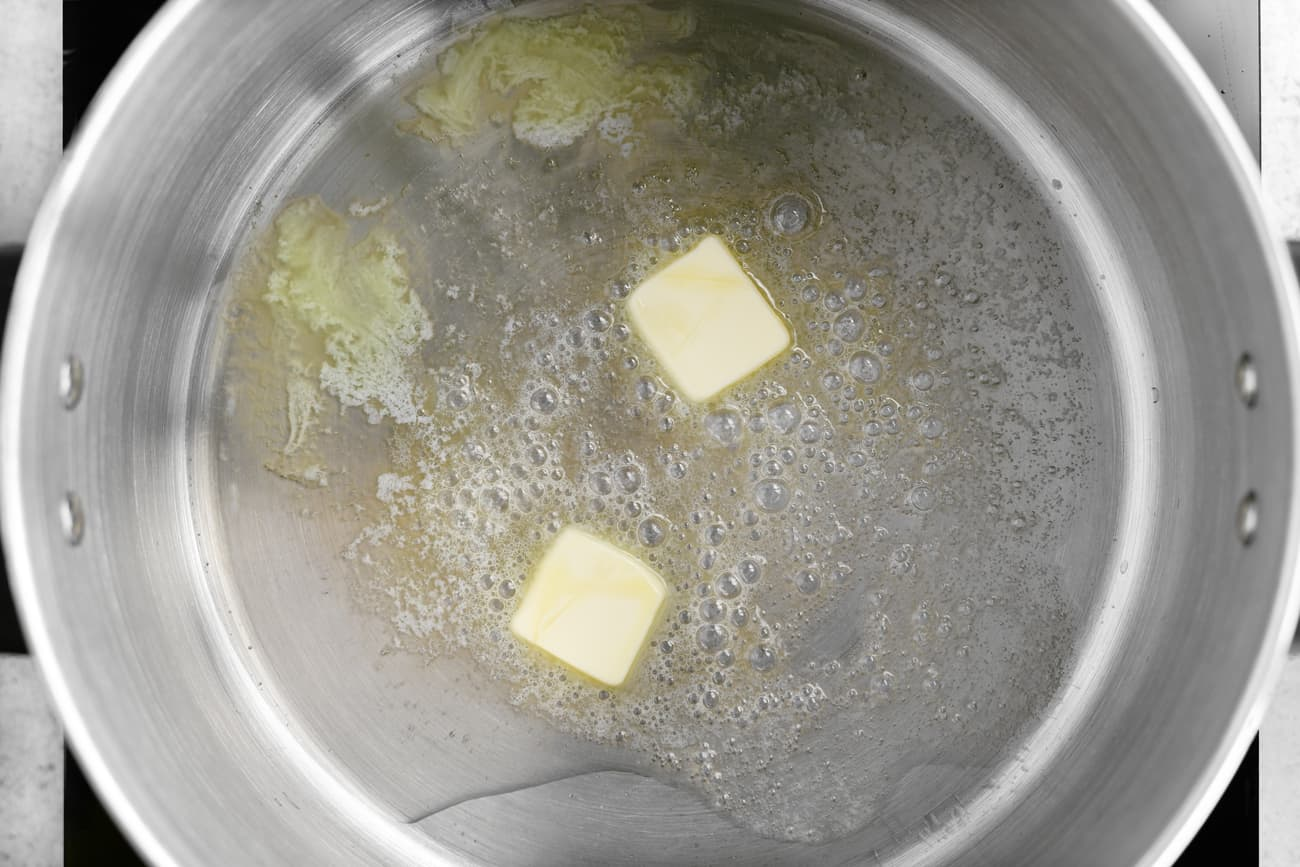 butter and grease in a pot