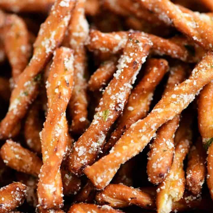 pretzels close up