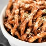 parmesan pretzels in a bowl