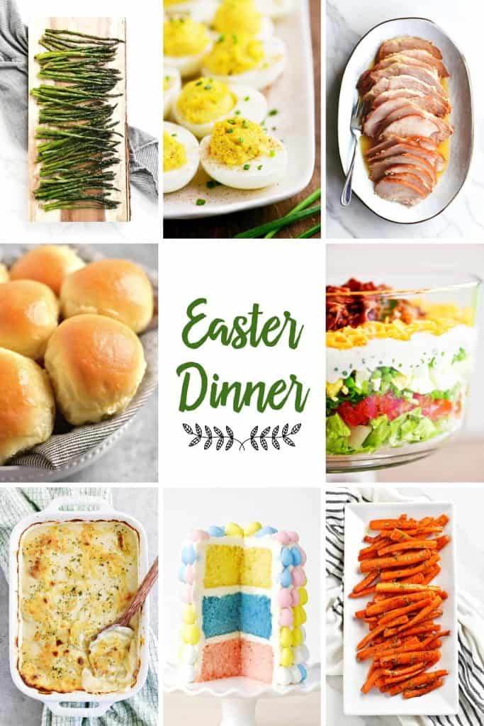 collage of Easter dinner recipes