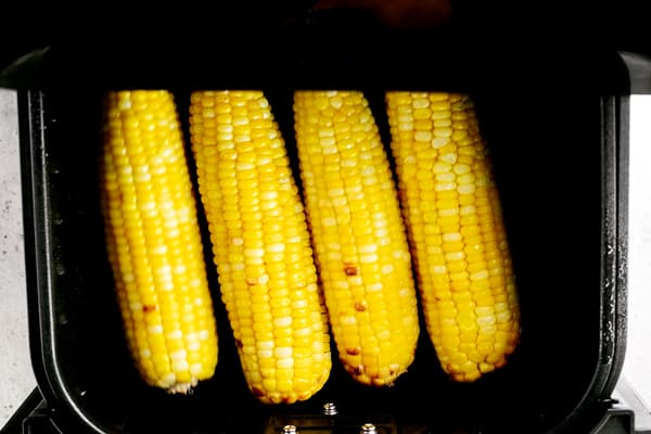 cooked corn in the air fryer