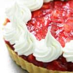 side of strawberry tart pie
