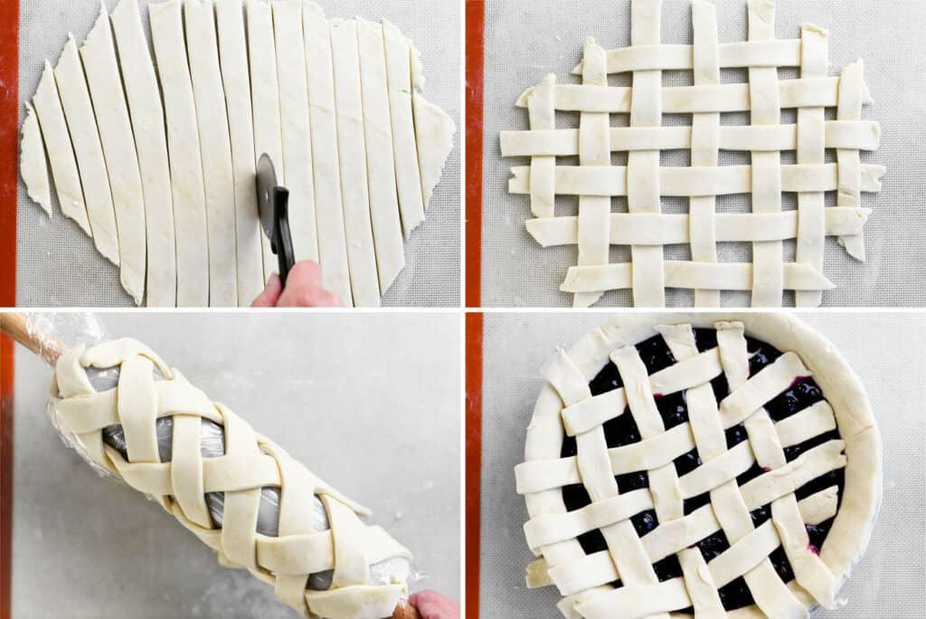 prepare pastry crust lattice