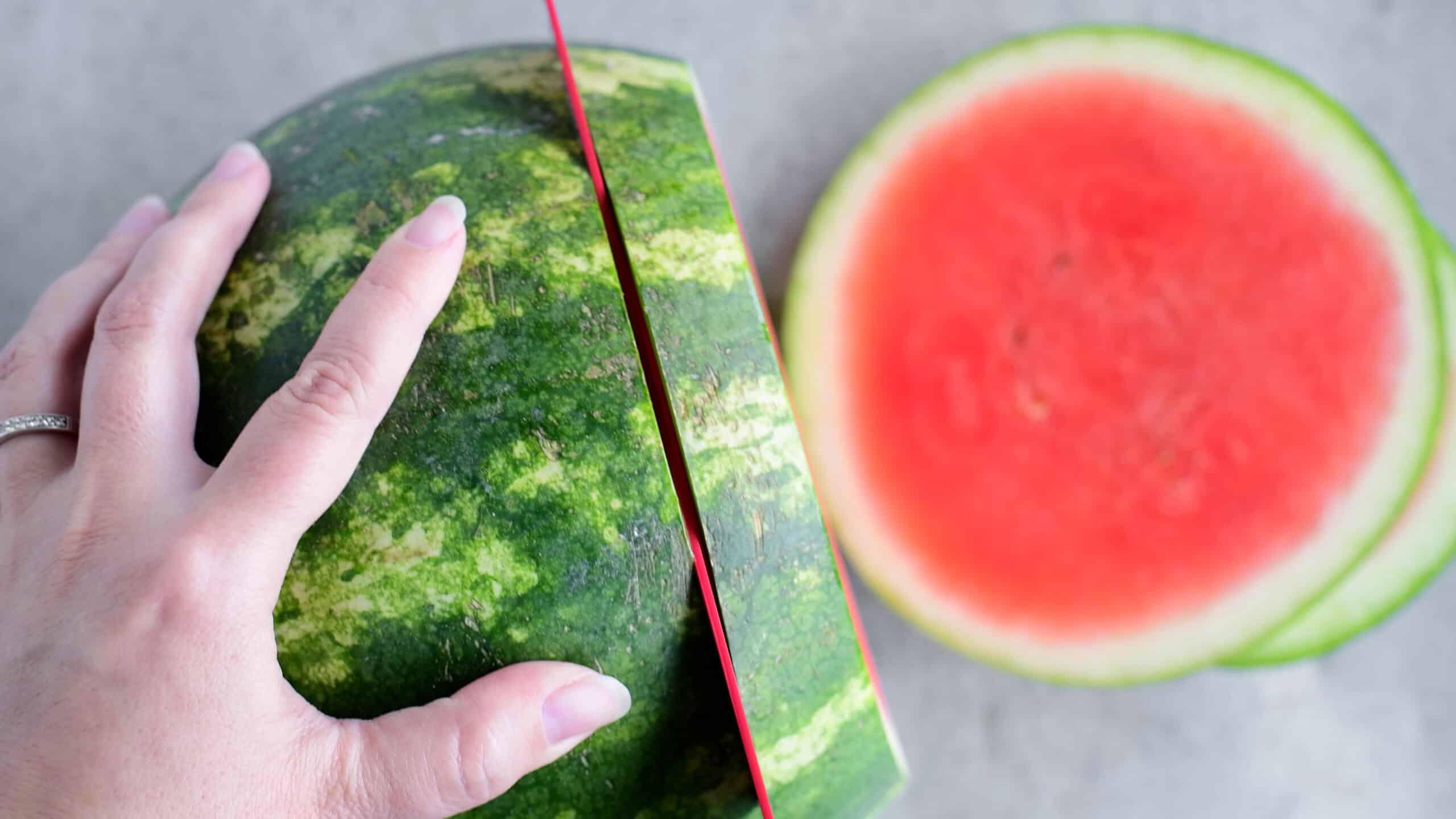 cutting a watermelon into circles
