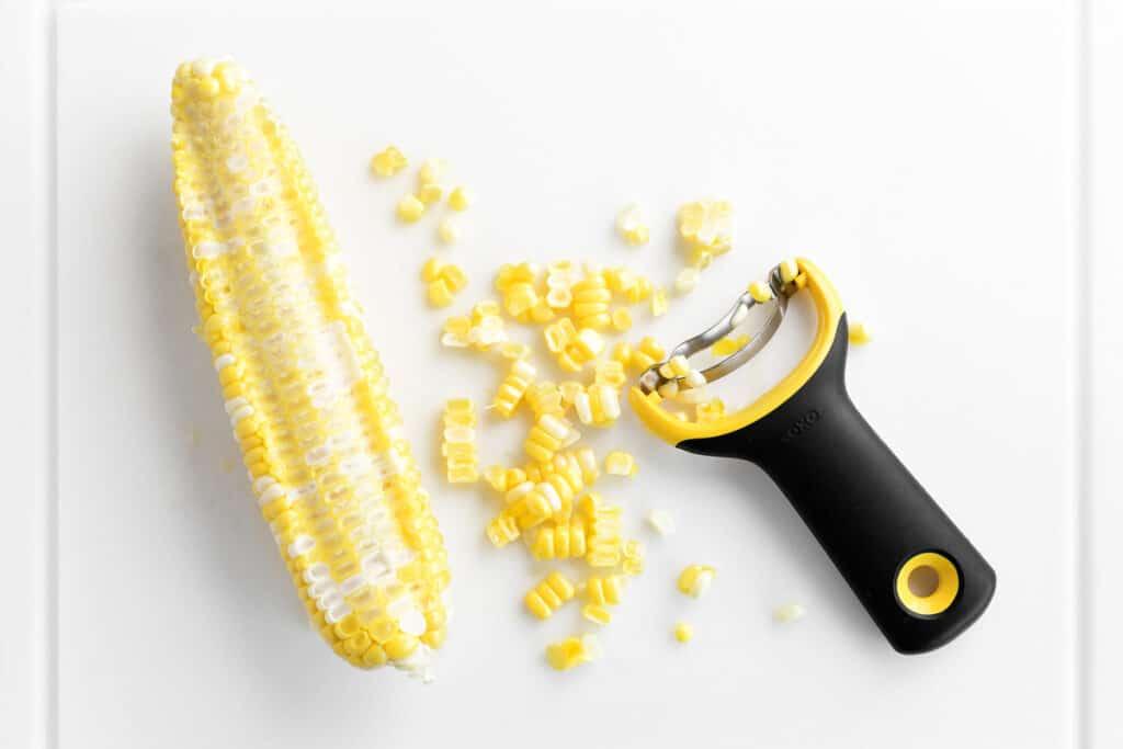 sweet corn and a peeler