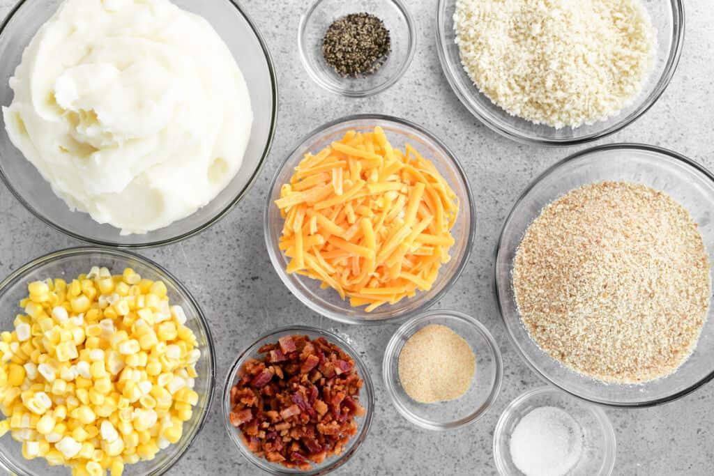 mashed potato and corn bites ingredients