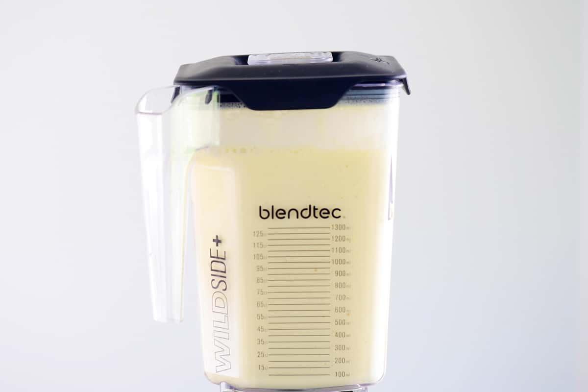 blender of orange whip