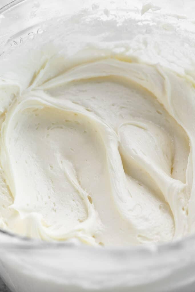 bowl of cream cheese buttercream