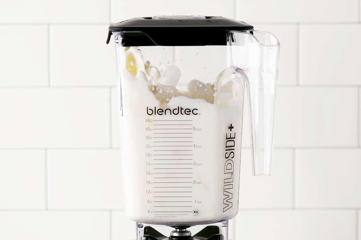 ingredients mixing in blender