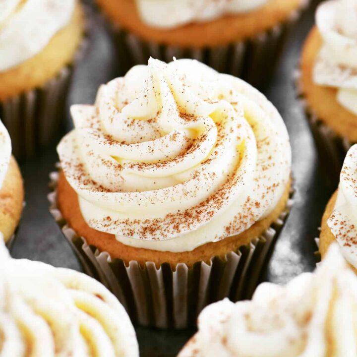 banana cupcakes with cream cheese buttercream