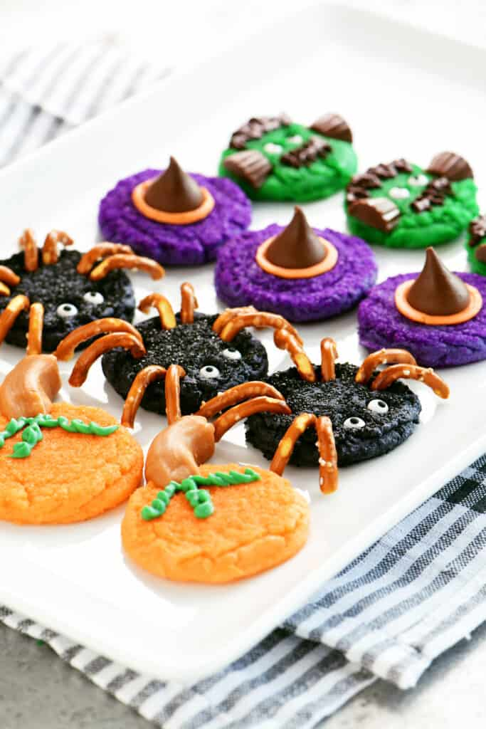 tray of Halloween Cookies