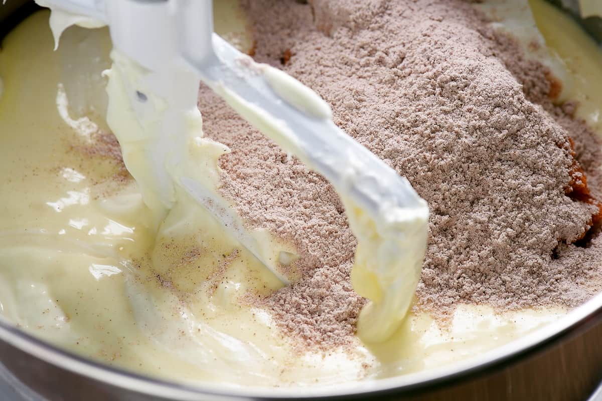 add dry ingredients to mixing bowl