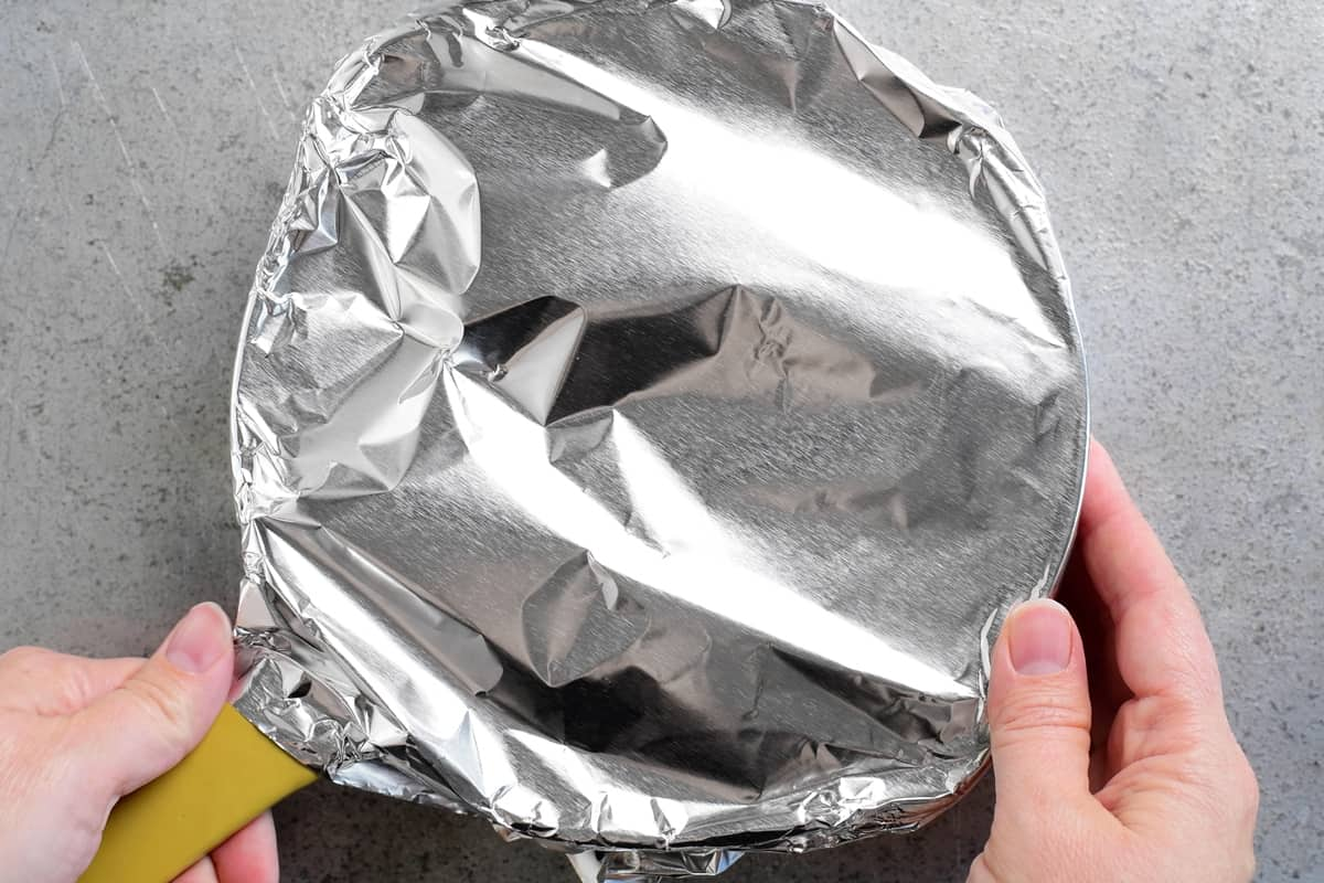 wrap pan with foil